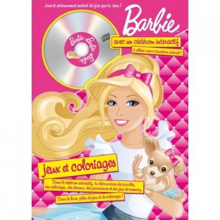 Barbie - Jeux & Coloriages & CD Rom - N°2 (avec chien)
