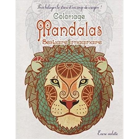 Coloriage Mandalas Bestiaire imaginaire petit format