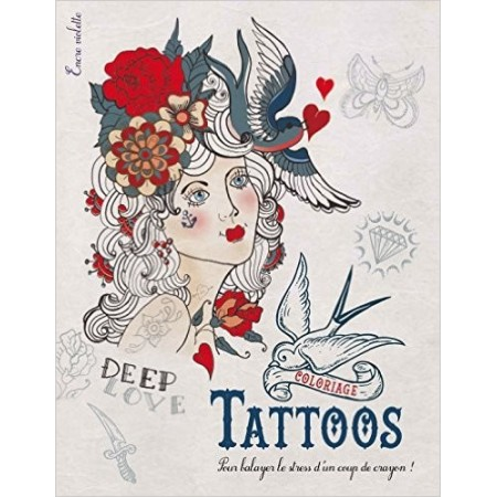 Coloriage Tattoos grand format