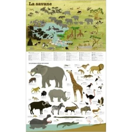 La savane - Poster 45 x 74 cm