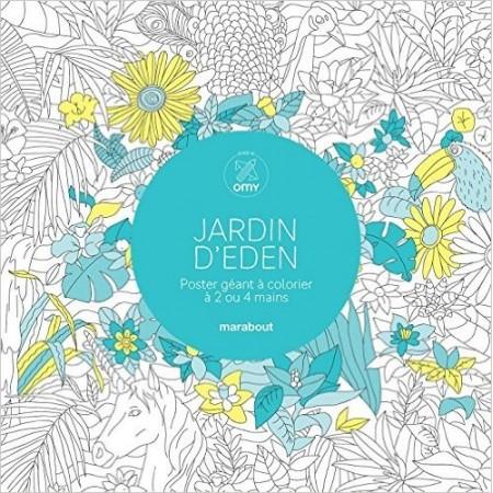 Jardin d'Eden - Poster géant à colorier