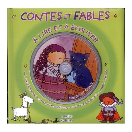 Contes et fables à lire et à écouter (vert). Livre CD