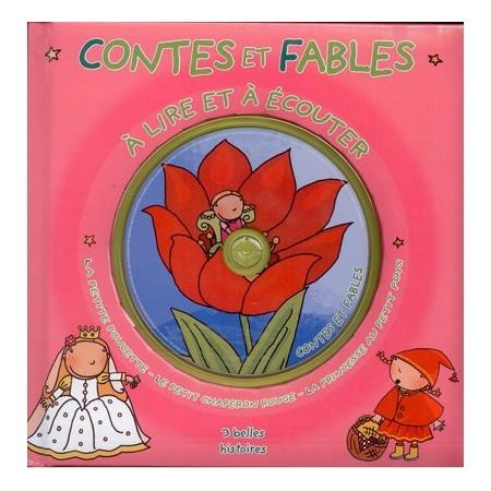 Contes et fables à lire et à écouter (rose). Livre CD