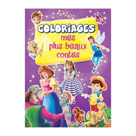 Mes plus beaux contes (violet). Coloriages