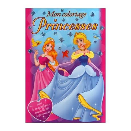 Mon coloriage princesses avec autocollants (bleu)