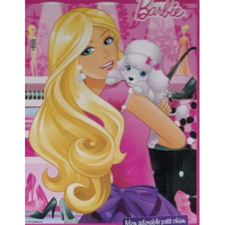 Barbie avec son chien. Puzzle 49 pièces