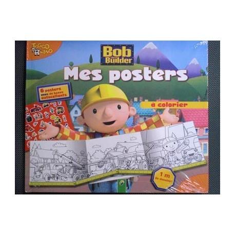 Bob the Builder. Mes posters à colorer avec autocollants