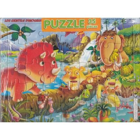 Les gentils dinosaures Puzzle 35 pièces