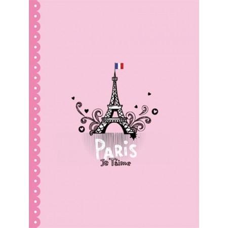 Cahier - Paris je t'aime - rose