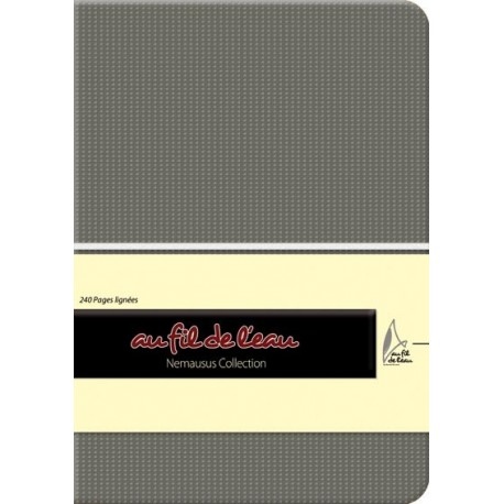 Carnet de notes - 12x17 - souple - gris