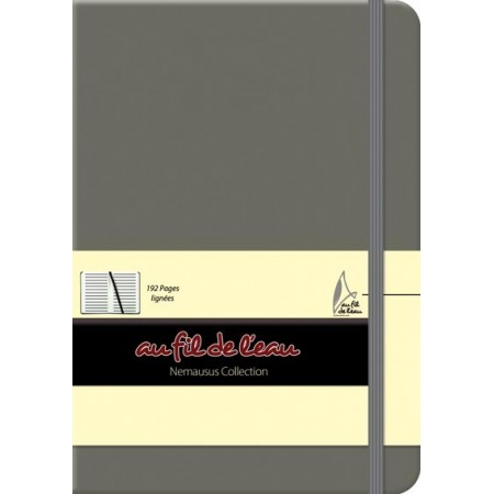 Carnet de notes - 12x17 - rigide - gris
