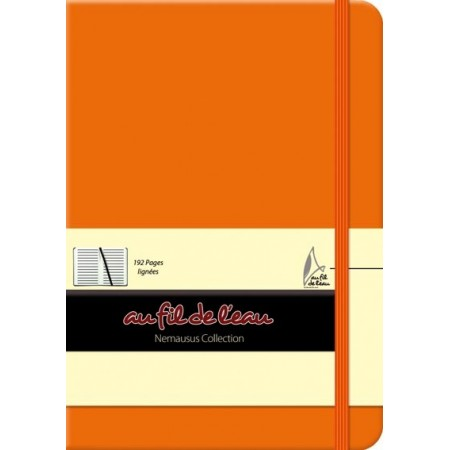 Carnet de notes - 12x17 - rigide - orange