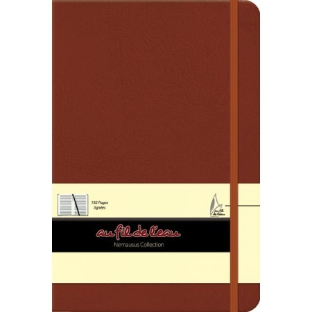 Carnet de notes - 14x21 - rigide - marron