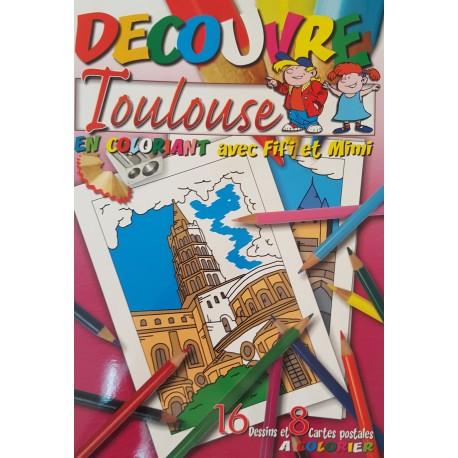 Découvre Toulouse en Coloriant avec Fifi et Mimi