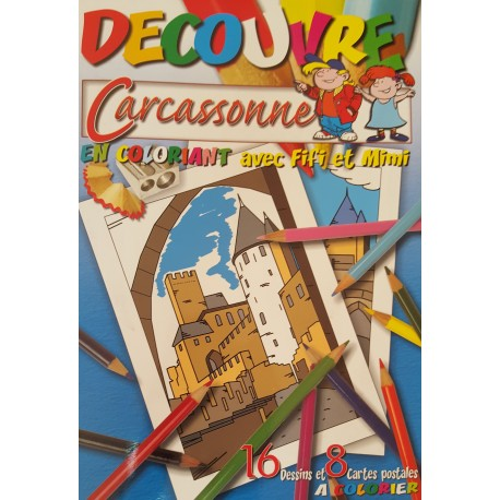 Découvre Carcassonne en Coloriant avec Fifi et Mimi
