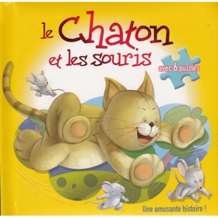 La chaton et les souris avec 6 puzzles