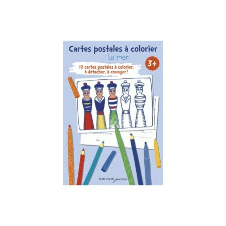 La mer - Cartes postales à colorier