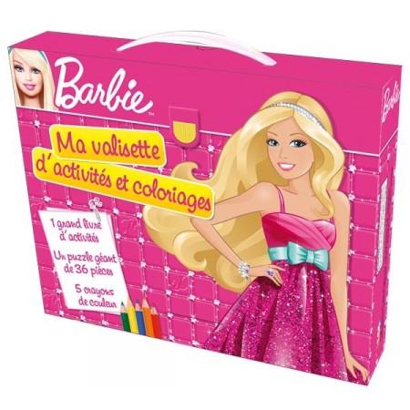 Ma valisette d'activités et coloriages Barbie Mon Dressing