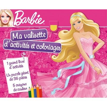 Ma valisette d'activités et coloriages Barbie Ma Plus Belle Robe