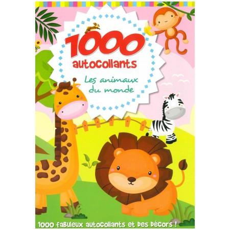 1000 autocollants Les animaux du monde