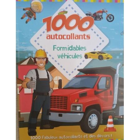 1000 autocollants Formidables véhicules