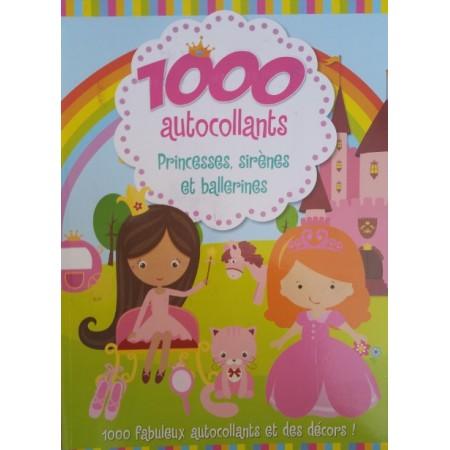 1000 autocollants Princesses,sirènes et ballerines