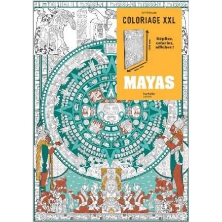 Coloriage XXL Mayas