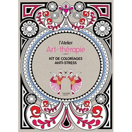 L'atelier Art-thérapie - Kit de coloriages anti-stress