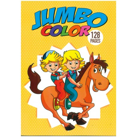 Jumbo color 128 pages (cheval)