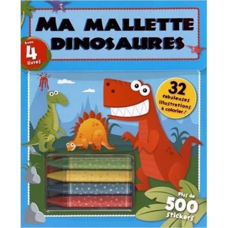 Ma mallette dinosaures : Contient : 4 crayons de couleur