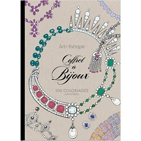Coffret à Bijoux 100 coloriages anti-stress