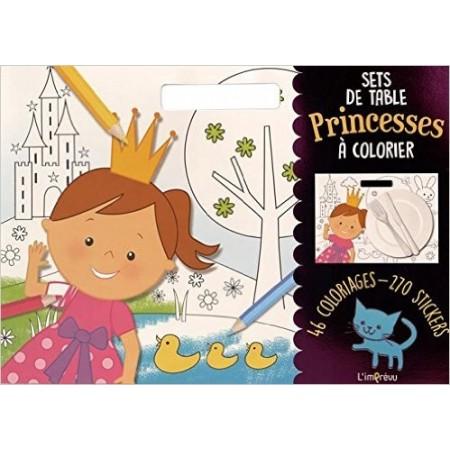 Sets de table Princesses à colorier - Avec 270 stickers
