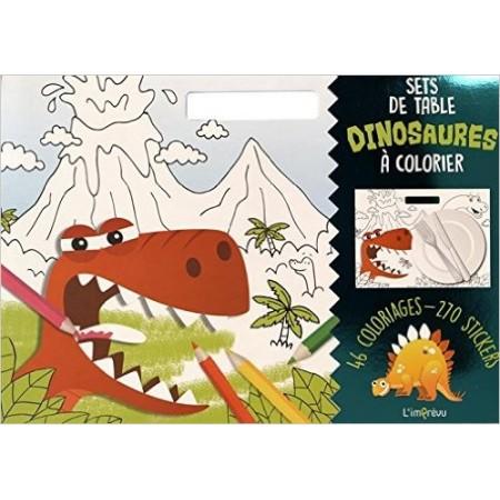 Sets de table Dinosaures à colorier - Avec 270 stickers