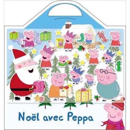 Noël avec Peppa - Avec 20 stickers mousse et 1 beau décor