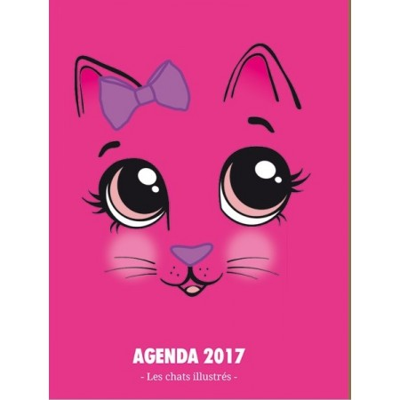 Agenda 2017 Les chats illustrés