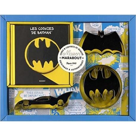 Les cookies de Batman avec 3 emporte-pièces Batman (Coffret)