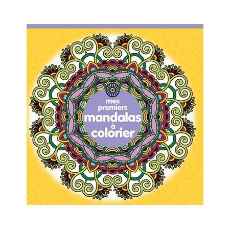 Mes premiers Mandalas à colorier (jaune)