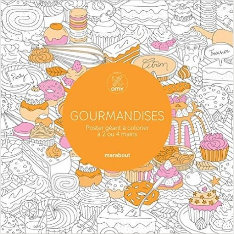 Gourmandises - Poster géant à colorier