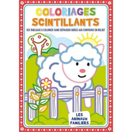 Coloriages scintillants Les animaux familiers