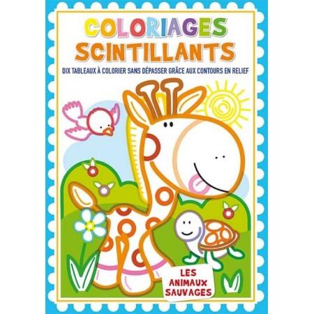 Coloriages scintillants Les animaux sauvages