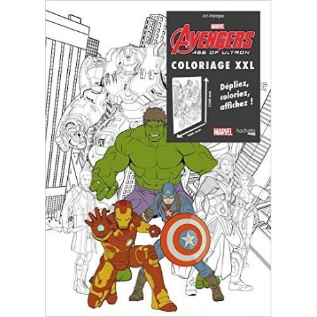 Coloriage XXL Avengers age of Ultron