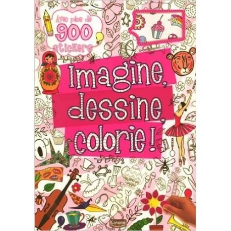 Imagine, dessine, colorie ! - Avec plus de 900 stickers