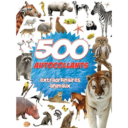 500 autocollants extraordinaires des animaux