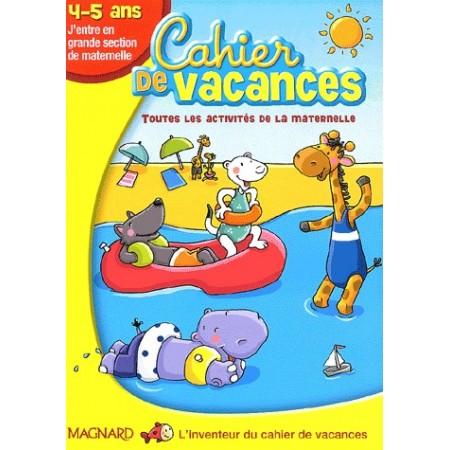 Cahier de vacances j'entre en GS 4-5 ans