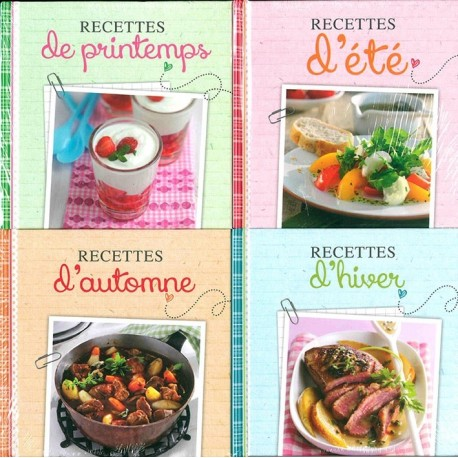 Les recettes de l'année (coffret 4 livres)