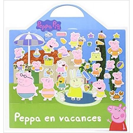 Peppa en vacances - Plus de 35 stickers repositionnables