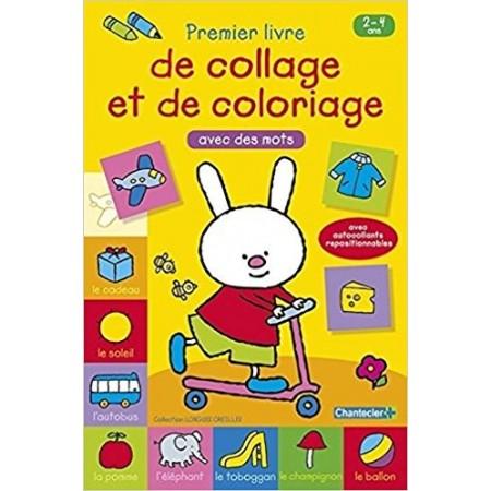 Premier livre de collage et de coloriage