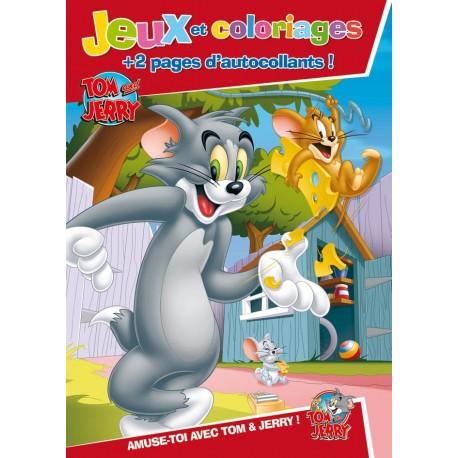 Jeux et coloriages Tom & Jerry + 2 pages d'autocollants