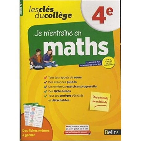 Clés du collège - Maths 4e