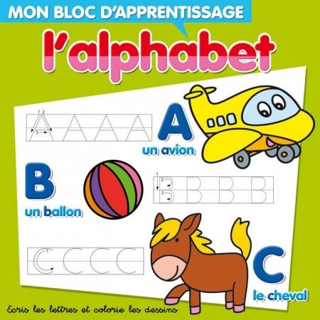 L'alphabet. Mon bloc d'apprentissage